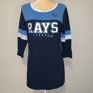 Tops - Tampa Bay Rays MLB 3/4 Sleeve Women's Sz S
